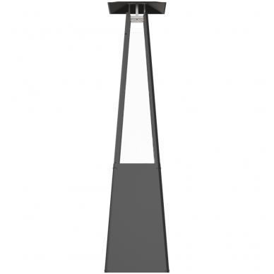 Dujinis lauko židinys KRATKI Umbrella juodas 2