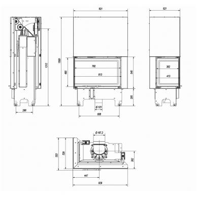 Židinys KRATKI VN 810/410 L/BS G 5